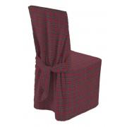 Dekoria Sukienka na krzesło, czerwony, zielony, krata, 45 × 94 cm, Bristol