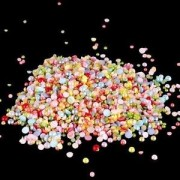 Alcoa Prime 1080 Semicircle Pearls Scatter Table Decor Wedding Confetti Jewelry Making