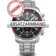 Curea de ceas Rothenschild Stahl-fur RS-1403-AS-BKRD u. RS-1403-AS-BK