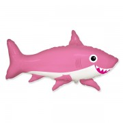 "Fólia lufi, nagyforma, cápa, pink, 24"""