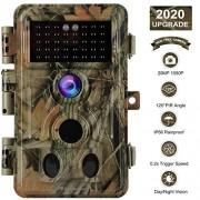 BLAZEVIDEO [2020 Actualizado] Cámara de Caza Cámara de Vida Silvestre con 20MP 1080P Visión Nocturna, 0.1s Velocidad de Disparo IP66 a Prueba de Agua, 120 Sensor de Movimiento de ángel Activado 36pcs LED