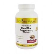Shuddha Guggulu 500mg Pure Extract 60 Veg Capsules By Natures Velvet