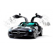 Silverlit 1:16 Mercedes-Benz SLS AMG Car ( Black ) with Interactive Bluetooth R/c- Connect, Control, & drive like never before