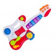 Chitara pentru copii, 40 cm, lumini si sunete