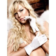 Baci White Satin Gloves 820