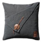 Knit Factory Barley kussen gerstekorrel 50x50 antraciet