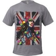 Tricou British Abstract