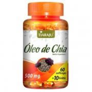 Óleo de Chia 500 mg - 60 Cáps. Softgel + 10 Grátis - Tiaraju