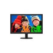 Monitor LED 23.6 Widescreen Philips 243V5QHABA Full HD Conex�o HDMI