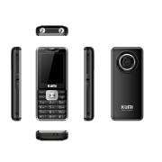 "KUMI Temperature Measurement Keypad Bar Phone Dual Card Dual Standby 2.4"" Screen Bluetooth 3.0 - Black"