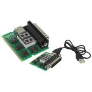 NTR PCT01 USB/LPT/miniPCI teszt kártya notebookhoz és asztali PC-hez