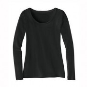 La Prenda Alpaca-Pima-shirt, 44 - antraciet-gemêleerd