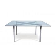 Mesa Recepção 900x900x460mm Vidro BCN (Mesa de Centro / Apoio)