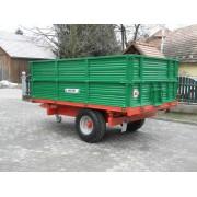 Remorca monoaxa cu basculare trilaterala Bicchi model BRT502, 6 tone