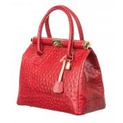 CHIARO SCURO Borsa donna in vera pelle CHIARO SCURO mod. LEONA, colore ROSSO, Made in Italy.