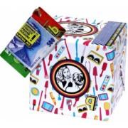Pusculita Noua Tipsul Make-Up Artistului cutie decorativa carton multicolor lucrata manual 12x12x12cm