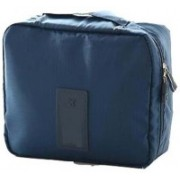 Expeditious Portable Waterproof Multi Pouch Travel Toiletry Cosmetic Bag Makeup Case Storage Bag With Handle(Blue)