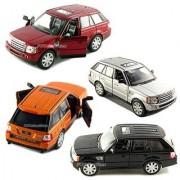 Set of 4: 5 Range Rover Sport SUV 1:38 Scale (Black/Orange/Red/Silver) by Kinsmart