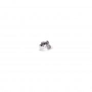Keel Toys Speelgoed liggende knuffel Duitse Pinscher grijs/wit hondje 25 cm