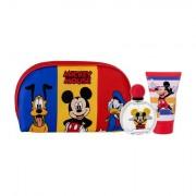 Disney Mickey Mouse confezione regalo eau de toilette 50 ml + doccia gel 100 ml + trousse Per Bambini