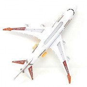 Colitive Large Size Airbus 747 Airplane Model Toys With Loud Musical Flash Light Electric Plane (White)