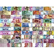 25 Different Original Foreign Currency Legal Money World Banknotes from 15 Different Asia Europe Africa Latin America Countries