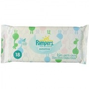 Pampers Sensitive Wipes Convenience Pack 18 Count