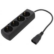 Cablu alimentare C14 - grup 4 prize 0.3m Jonex
