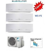 Daikin Kit Trial Emura White 3mxm68m + 3 X Ftxj25mw Wi-Fi 9+9+9