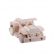 Jucarie din lemn necolorata model masina clasica decapotabila