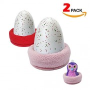 Garmaker Hatching Animal Nest Bed,Egg-Egg Holder Accessories,Bed Nesting Egg Accessories For All Hatchimals Eggs,Best Kids-Pink And Red Colors 2 Pack