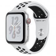 Apple Watch Nike+ Series 4 GPS + Cellular 40mm Alumínio Prateado com Bracelete Desportiva Nike Platina Pura/Preta