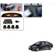 Auto Addict Car Black Reverse Parking Sensor With LED Display For Hyundai Verna Fluidic