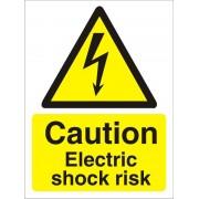 Unbranded Warning Sign Electric Shock Vinyl 20 x 15 cm