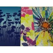 Staples Two Pocket Paper Folder ~ Set of 3 Flower Power Folders (Flower Shadows, Multicolored Decorative Flowers on White, Foil Giant Detailed Flower)