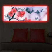 Tablou pe panza iluminat Shining, 239SHN3272, 30 x 90 cm, panza