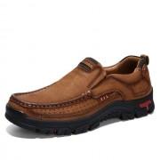 Comfortabele en ademende non-slip set voeten buiten wandelen sneakers formele schoenen voor mannen schoenmaat: 48 (bruin)