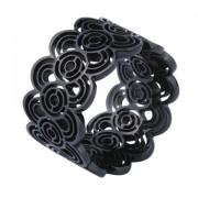 Inel elegant negru din otel inox