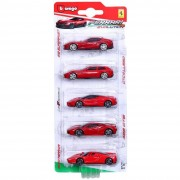 Bburago blister 5 modellini ferrari r&p evolution gt, 18-56665 assortiti (no scelta)