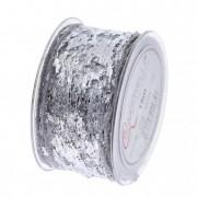 Szalag hálos 50mmx15m ezüst