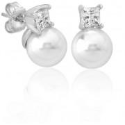 Majorica Cercei din argint cu perle reale și piatră 15310.01.2.000.010.1