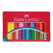 Creioane colorate 48 culori/set FABER-CASTELL Grip 2001, cutie metal, FC112448