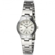 Casio Enticer Analog White Dial Womens Watch - LTP-1241D-7A2DF (A852)