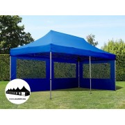 3x6m összecsukható pavilon Alutec Kék (Economy Alutec Pop-Up)