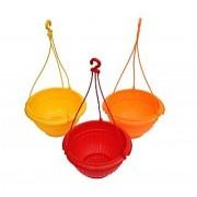 Plastic Hanging Planter Set Of 3Pcs Multy Colors