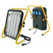 *Leuchte Power Jet-Light 4x36W IP54 5m H07RN-F3G1,5 Gestell gelb