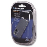 Hub 4 puertos USB Manhattan 160612 con alimentación externa