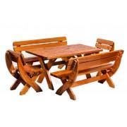 Set mobilier gradina KING 8-10 persoane din lemn cu masa 190x80x73
