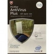 McAfee Anti-Virus Plus - 1 PC 1 Year (CD) Latest Version (Email Delivery in 2 hours- No CD)