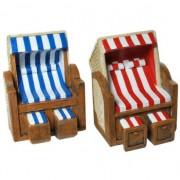 Geen Stenen spaarpotten strandstoel gekleurd